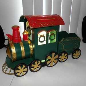 Christmas train and glimmering light w/sprinkles
